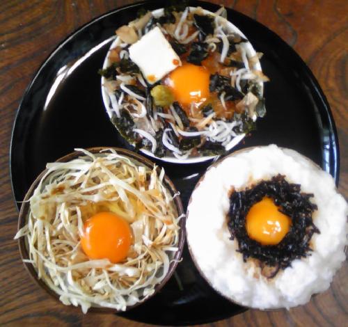 卵ご飯三種15