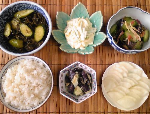 飯蔵流簡単漬物五種の朝食27