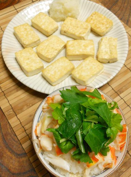 石焼豆腐と海老飯15