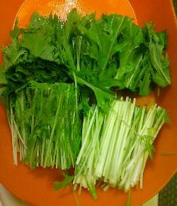 フグと水菜のパリ鍋7