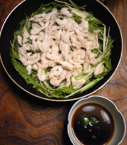 フグと水菜のパリ鍋15