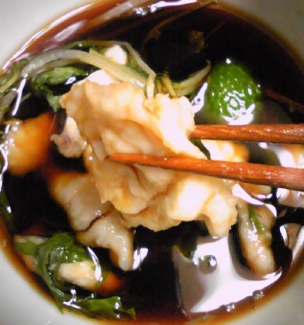 フグと水菜のパリ鍋18