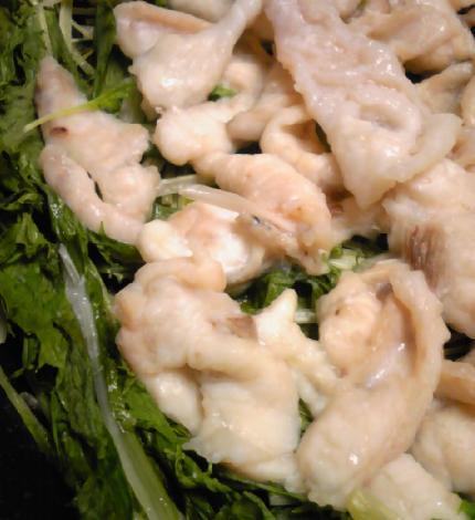 フグと水菜のパリ鍋16