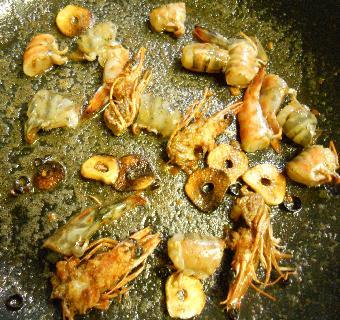 クルマエビのスパゲティ9