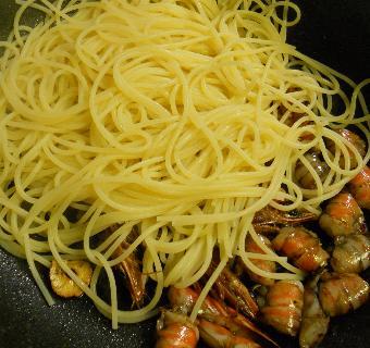 クルマエビのスパゲティ10