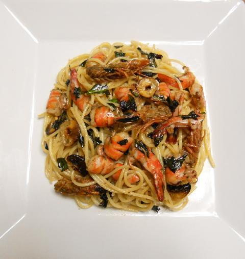 クルマエビのスパゲティ12
