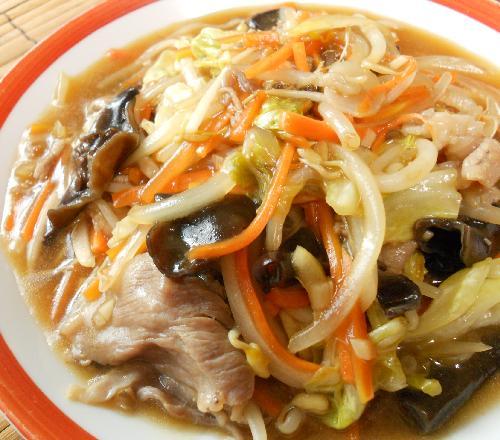 あんかけ炒め蒸し野菜11