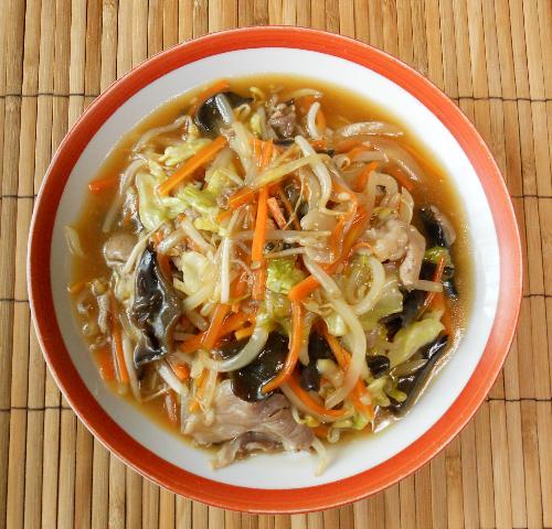 あんかけ炒め蒸し野菜10