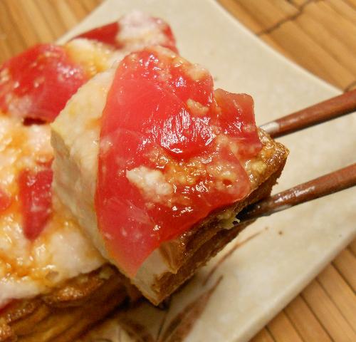 焼き鳥のポテサラのっけ・アジフライの肉じゃがソース・厚揚げの山かけ15