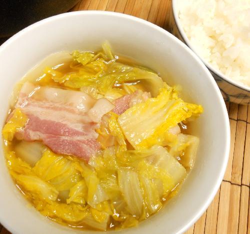 ハナさん流白菜ベーコン鍋11