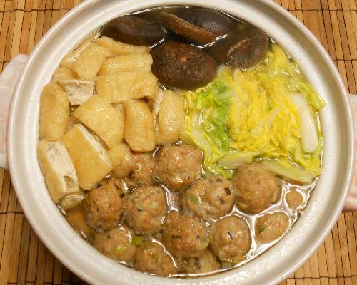 おチヨさんの豚肉団子鍋12