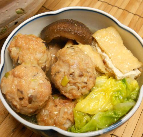 おチヨさんの豚肉団子鍋14