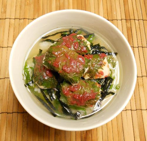 国嵩特製・梅とささみのスープ丼12