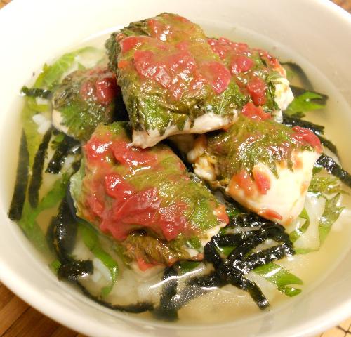 国嵩特製・梅とささみのスープ丼13