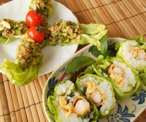 レタス巻き寿司とピリ辛挽肉サラダ17