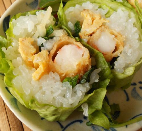レタス巻き寿司とピリ辛挽肉サラダ21