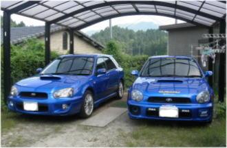 青いインプレッサが2台・・・(・_・;)