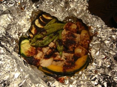 竜神豚と無農薬野菜の蒸し鍋
