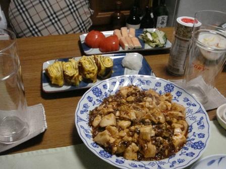 麻婆豆腐と卵焼き