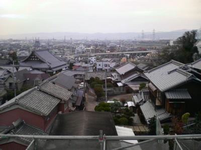 屋根からみた風景