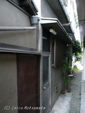 住んでいた家の裏口