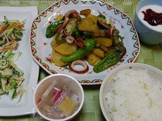 イカと夏野菜炒め