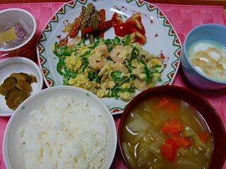 エビ卵野菜炒め