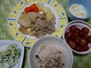 根菜と豚肉の酒蒸煮
