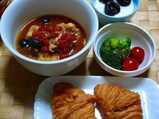 鳥のトマトスープ