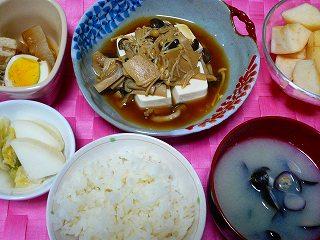 茸のあんかけ豆腐