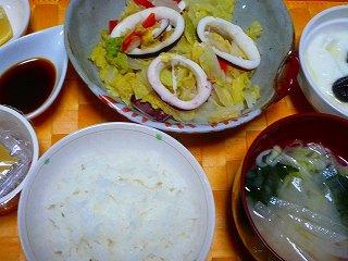 イカと白菜の酒蒸し煮