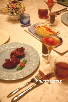 夏野菜のテリーヌテーブルセッティング1
