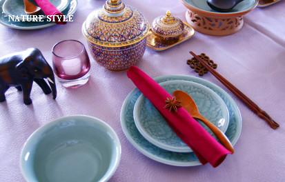 タイ料理テーブルセッティング