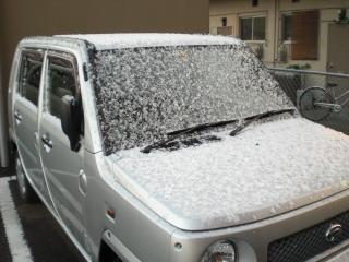 宮崎で初雪