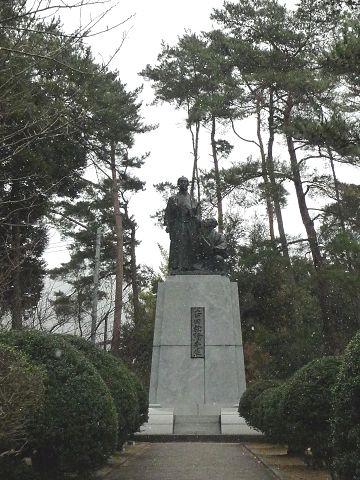 吉田松陰の銅像09.1.25-1
