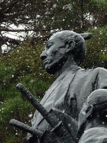 吉田松陰の銅像09.1.25-2