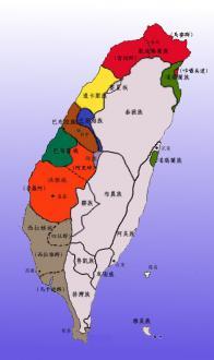 平埔族 分布図