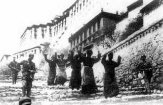 被俘#33719;的西藏叛乱分子