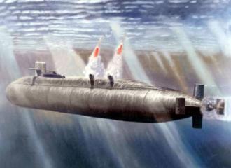 """中国094#24377;道#23548;#24377;核潜艇#21457;射""""巨浪-2""""#23548;#24377;模#25311;#22270;"""