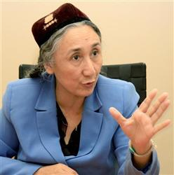「世界ウイグル会議」主席のラビア・カーディルさん(共同)