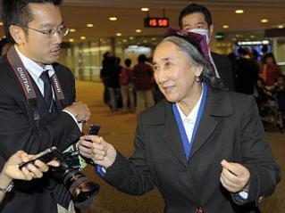 (法新社東京20日電) 流亡維吾爾族領袖熱比#23149;(Rebiya Kadeer)今天抵日本訪問,