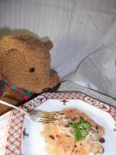 クマ 鮭食べる