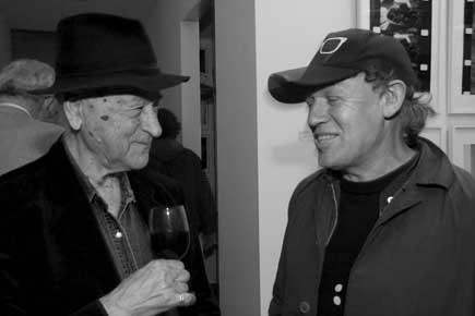PS3* Pedro Sanchez3 with Jonas Mekas