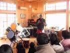 ツリー型新絞め太鼓とマーティー