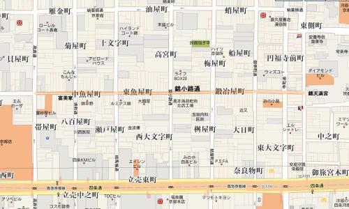 錦小路地図