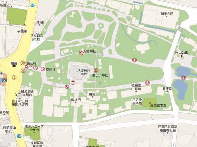 八坂神社俯瞰図