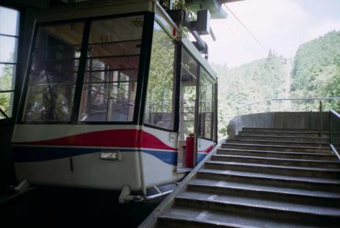 比叡山のロープウェイ