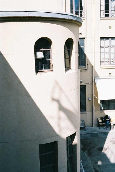 二階バルコニーからの眺め