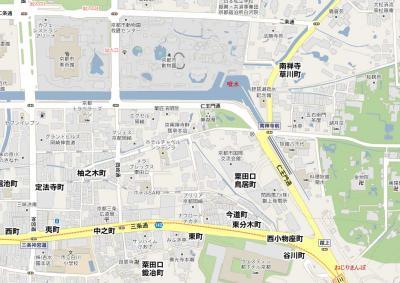 動物園周辺の地図