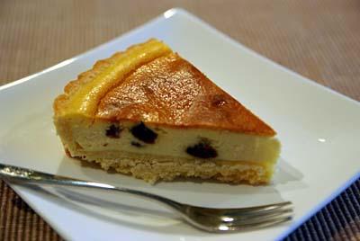ベイクドチーズケーキ カット